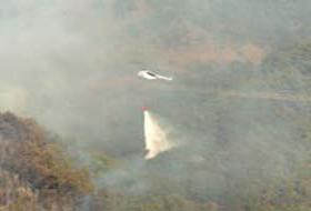 Yangın söndürme helikopteri düştü.21884