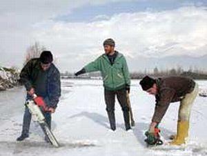 Sivas'ta Ulaş Gölü dondu.12901