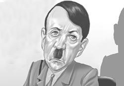 Cumhuriyet çizeri Musa Kart, Erdoğan'ı Hitler'e benzetti.9786
