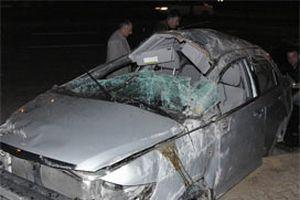 Otomobil şarampole devrildi: 5 yaralı.12027