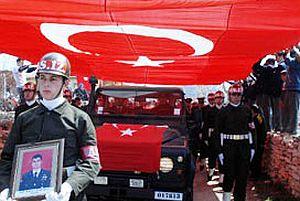 Şehit Cengiz Gülcü'nün cenazesi toprağa verildi.19768