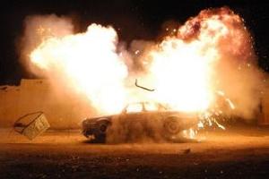 AKP'li başkanın aracında patlama.41019
