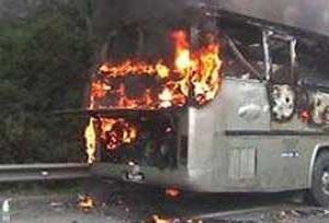 Almanya'da otobüs alev aldı: 20 ölü.11821