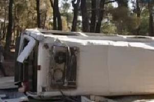 İşçi servisi kaza yaptı: 6 yaralı.11055