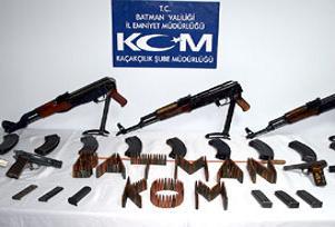 Batman'da kaçak silah operasyonu.14258