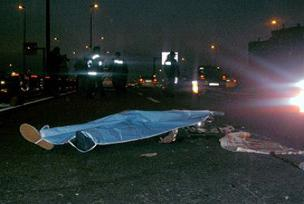 Hacı adaylarını uğurlarken kaza.10454