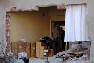 Eskişehir'de bir apartmanda patlama.11383