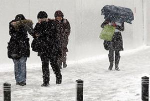 Kar yağışı Muş'ta hayatı olumsuz etkiliyor.13301