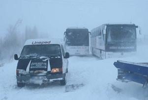Ordu'da kar yağışı etkili oldu.7553