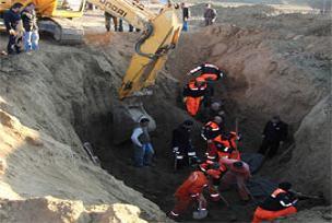 Kum ocağındaki işcilere ulaşılamıyor.15169