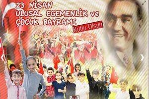 TSK'dan 23 Nisan afişi.33093